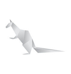 realistic detailed 3d origami paper animal vector image