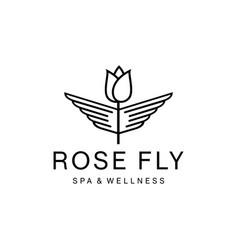 rose wings vector image