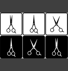scissors set vector image