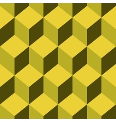 Seamless pattern cube art vector image