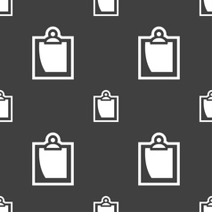 sheet of paper icon sign Seamless pattern on a vector image