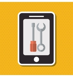 Smartphone and technical service design vector