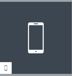 Smartphone related glyph icon vector