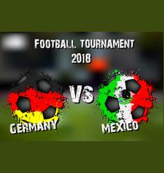 Soccer game germany vs mexico vector