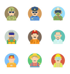 Specialty icons set flat style vector