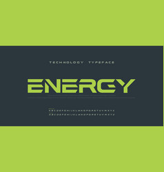 sport modern future bold alphabet font typography vector image