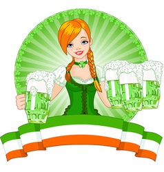 St Patrick Day girl vector
