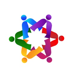 Teamwork people logo vector image vector image