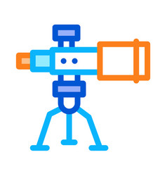 telescope equipment icon outline vector image