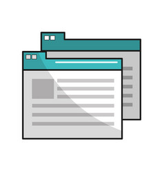 Virtual folder with file documents saved vector