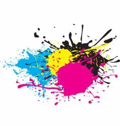 CMYK paint splat vector image