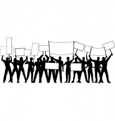 placard holders vector image vector image