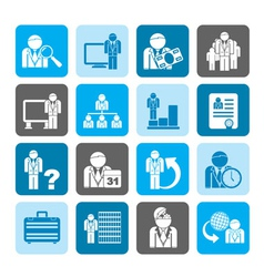 Silhouette Business and hierarchy icon vector image vector image