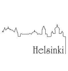 helsinki city one line drawing background vector image
