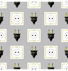 Power Plug Seamless Pattern vector image vector image