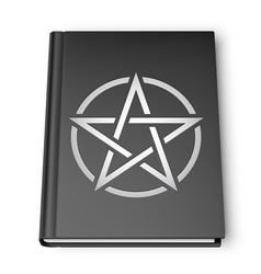 black book with pentagram vector image
