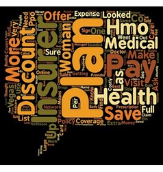 Discount Plans versus Health Insurance text vector image vector image