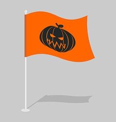 Flag Halloween Traditional holiday growing flag vector image