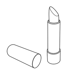 Lipstick outline vector