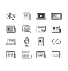 media icons set - simplus vector image vector image