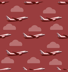 pane in the sky seamless pattern vector image vector image