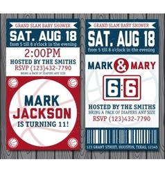 Set of vintage basketball tickets vector image vector image
