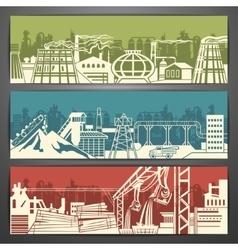 Metallurgy banners vector image