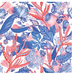 red and blue exotic pattern vector image