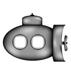 submarine sign icon vector image