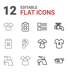 12 graphics icons vector
