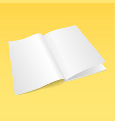 3d flyer paper mock-up design vector image