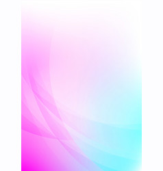abstract curved on colorful background vector image