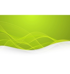 Abstract green background with lines vector image vector image