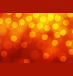 abstract yellow bokeh light on red luxury vector image