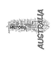 australia history text word cloud concept vector image