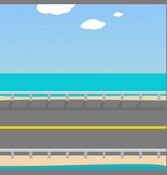 background for the game road vector image