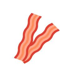 Bacon icon flat style vector