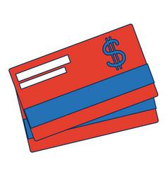 bank credit card debit money plastic vector image