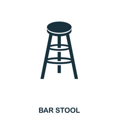 bar stool icon line style icon design ui vector image