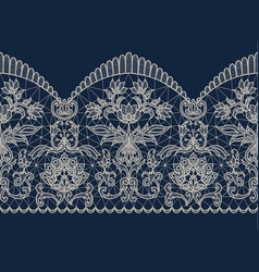 Beige lace ribbon vector