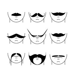 Big set of hipster mustache vector