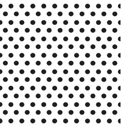 black dots on white background seamless pattern vector image