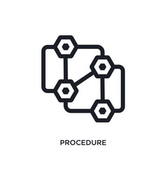 Black procedure isolated icon simple element from vector