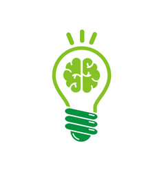brain tech logo vector image