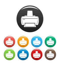 brand printer icons set color vector image