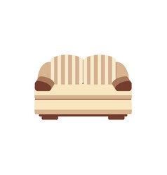 brown and beige living room couch isolated on vector image