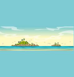 cartoon panorama landscape vector image
