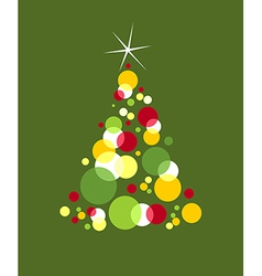 Christmas tree designed with bubbles vector