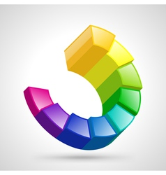 Circular diagram colorful vector image