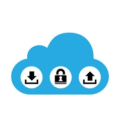 Cloud computing with icons vector image
